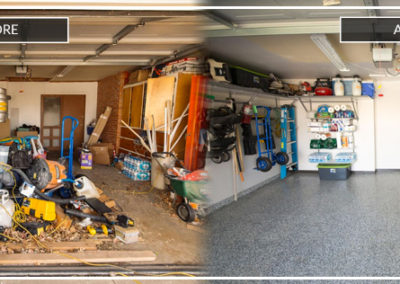 Garage organization | Before and After