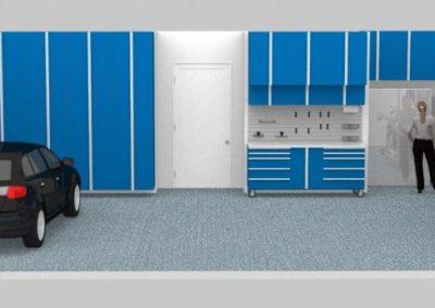 Garage Solutions | Garage Cabinets | Blue Floor