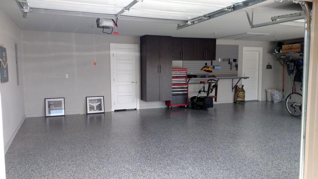 Epoxy Blue Flake Garage