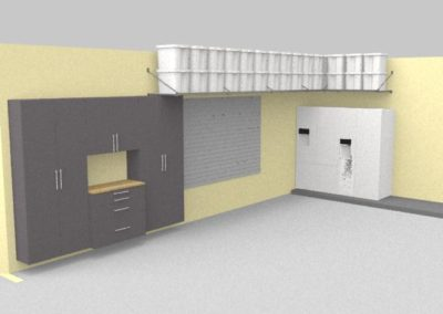 Garage Solutions | Garage Cabinets | Lined Wall