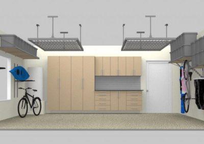 Garage Cabinets Tulsa | 3D Design | Tan