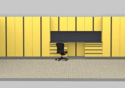 Garage Cabinets Tulsa | Yellow Sample