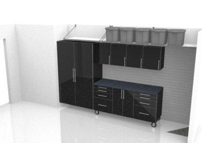 Garage Solutions | Garage Cabinets | Black cart