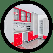 Epoxy Floor Tulsa Mid Cabinets