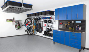 Garage Cabinets Tulsa   Blue cabinets